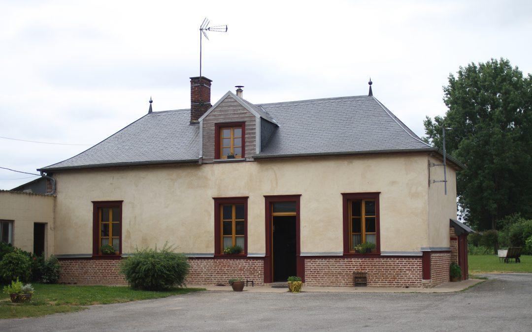Réhabilitation longère picarde à colombage, secteur Poix de Picardie