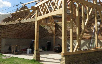 reconstruction d'un ensemble de granges, secteur Vimeux .