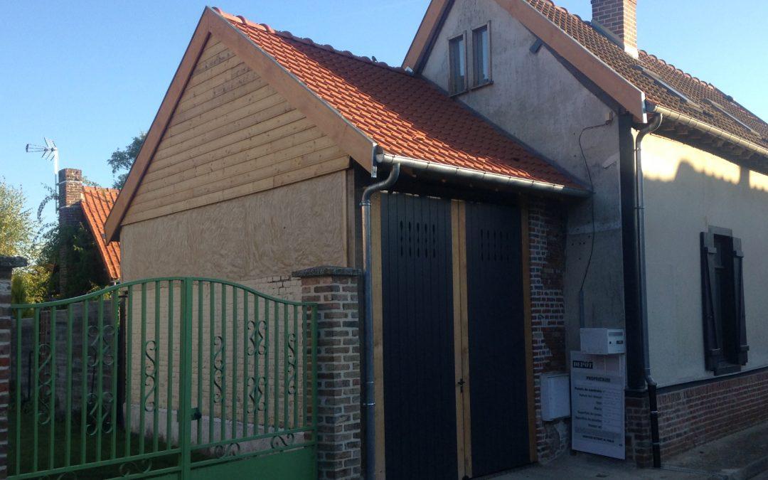 création d'un porche et sa grand porte, secteur Amiens ouest