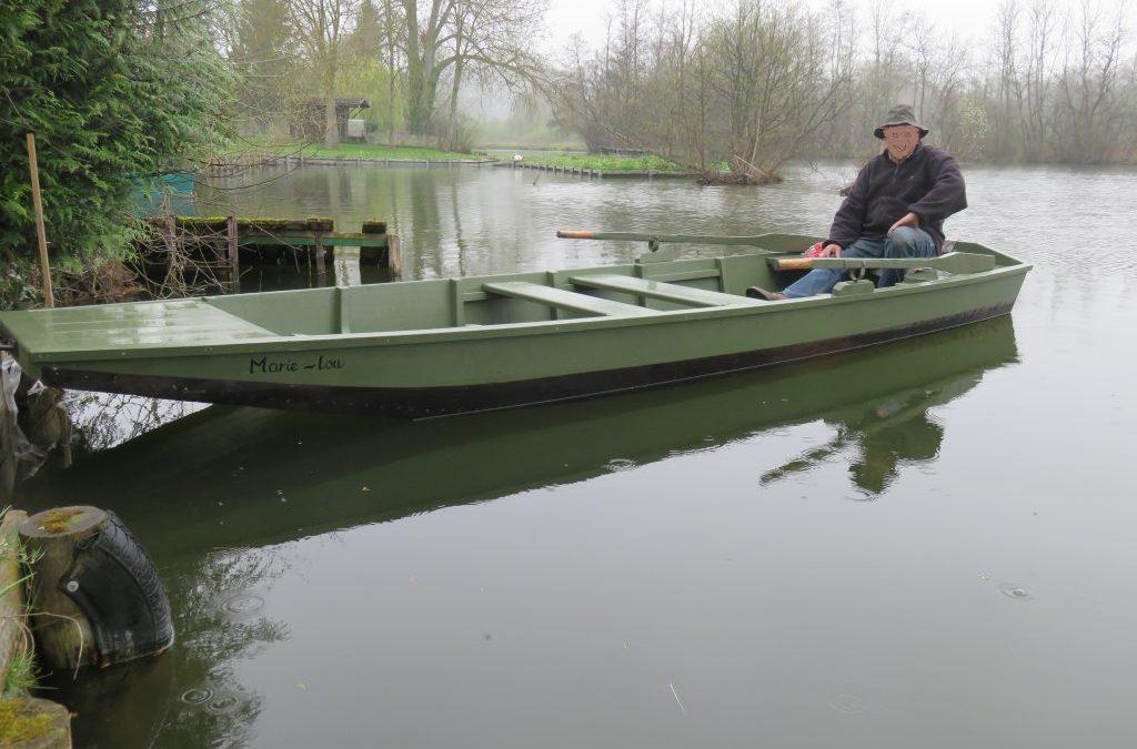 Barque plate de la vallée de la Somme, grisard et chêne, 5m